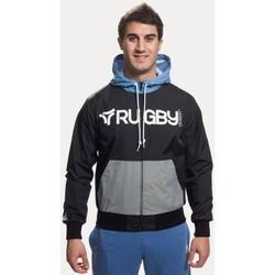Vêtements Sweats Rugby Division Coupe vent - Coupe vent kawe zippe à capuche - Noir