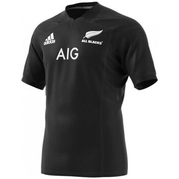 Vêtements T-shirts manches courtes adidas Originals Maillot rugby All Blacks Adulte - réplica domicile 2017/2018 - Noir