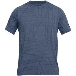 Vêtements T-shirts manches courtes Under Armour Tee-shirt entrainement rugby UA Threadborne Elite - Gris