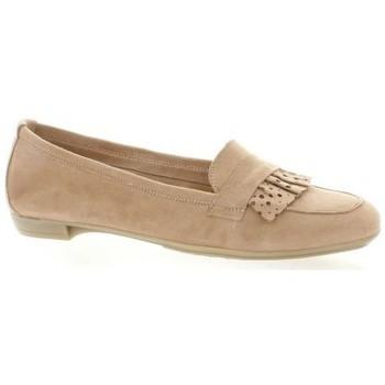 Chaussures Femme Mocassins So Send Mocassins cuir velours Rose