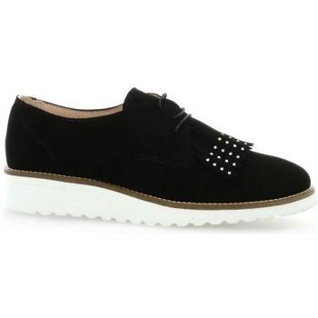 Chaussures Femme Derbies So Send Derby cuir velours Noir