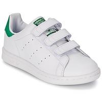 Chaussures Garçon Baskets basses adidas Originals STAN SMITH CF C Blanc / Vert