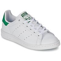 Chaussures Enfant Baskets basses adidas Originals STAN SMITH J Blanc / Vert