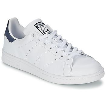 Chaussures Baskets basses adidas Originals STAN SMITH Blanc / Bleu