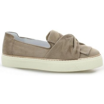 Chaussures Femme Baskets mode Alpe Baskets cuir velours Taupe