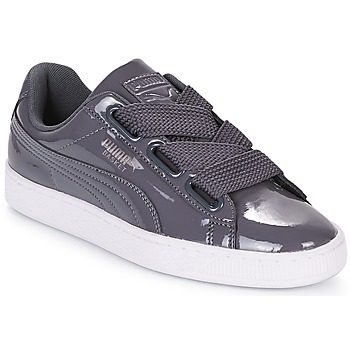 Chaussures Femme Baskets basses Puma WN BASKET HEART PATENT.IRO IRON