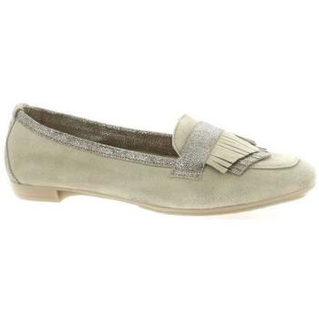 Chaussures Femme Mocassins So Send Mocassins cuir velours Taupe