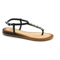 Chaussures Femme Sandales et Nu-pieds Gioseppo 45331 sandales noires femme tongs noir bijou strass en cuir Nero