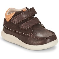Chaussures Garçon Baskets montantes Clarks Cloud Tuktu Brown Combi Lea