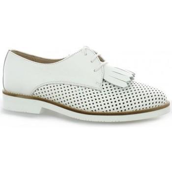 Chaussures Femme Derbies So Send Derby cuir Blanc