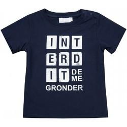 Vêtements Enfant T-shirts manches courtes Interdit De Me Gronder Square Bleu