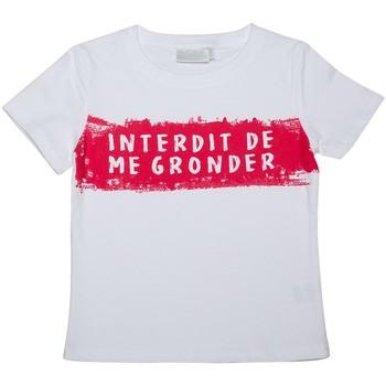 Vêtements Enfant T-shirts manches courtes Interdit De Me Gronder Moussaillon Blanc