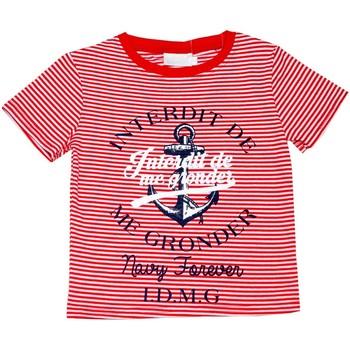 Vêtements Enfant T-shirts manches courtes Interdit De Me Gronder Ancre Rouge