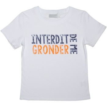 Vêtements Enfant T-shirts manches courtes Interdit De Me Gronder Gronder Blanc