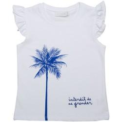 Vêtements Fille Débardeurs / T-shirts sans manche Interdit De Me Gronder Palm Blanc