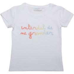 Vêtements Fille T-shirts manches courtes Interdit De Me Gronder Riha Blanc