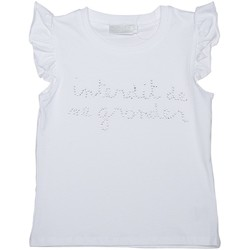 Vêtements Fille T-shirts manches courtes Interdit De Me Gronder Papillon Blanc