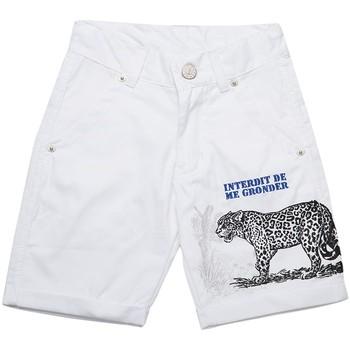 Vêtements Garçon Shorts / Bermudas Interdit De Me Gronder Forest Blanc