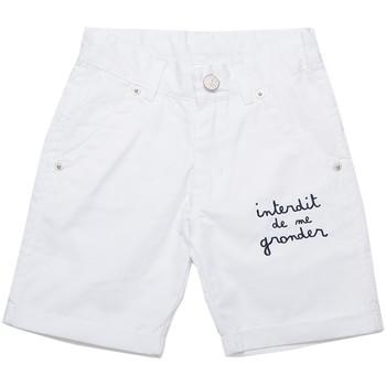 Vêtements Garçon Shorts / Bermudas Interdit De Me Gronder Sudy Blanc