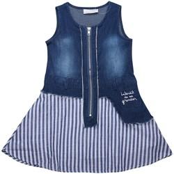 Vêtements Fille Robes Interdit De Me Gronder Rebelle Bleu