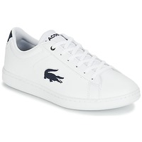 Chaussures Enfant Baskets basses Lacoste CARNABY EVO 318 1 Blanc / Marine