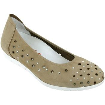 Chaussures Femme Ballerines / babies Sabrinas Bruselas 85005 Taupe nubuck