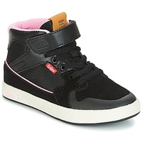 Chaussures Fille Baskets montantes Kickers GREADY MID CDT Noir / Rose