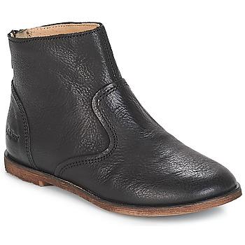 Chaussures Fille Bottes ville Kickers ROXANNA Noir
