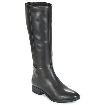 Chaussures Femme Bottes ville Geox D FELICITY Noir