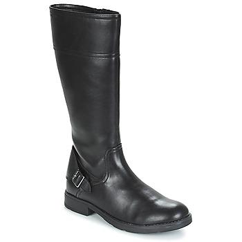 Chaussures Fille Bottes ville Geox JR SOFIA Noir
