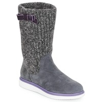 Chaussures Fille Bottes ville Geox J THYMAR GIRL Gris