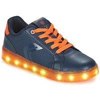 Chaussures Garçon Baskets basses Geox J KOMMODOR BOY Marine / Orange