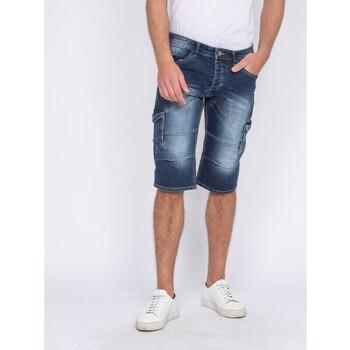 Vêtements Homme Pantacourts Ritchie Pantacourt battle en jean BONACRI DK BLUE Bleu marine