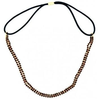 Beauté Femme Accessoires cheveux My Accessories - Headband en Strass 02 Or et rouge Autres