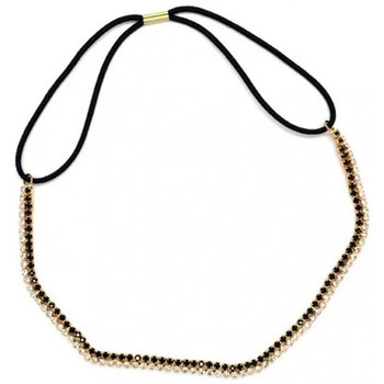 Beauté Femme Accessoires cheveux My Accessories - Headband en Strass 04 Or et blanc Autres