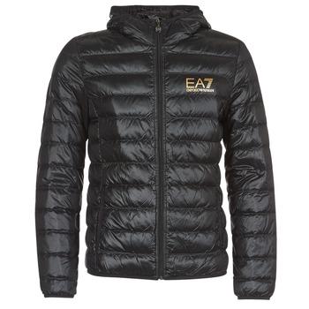 Vêtements Homme Doudounes Emporio Armani EA7 TRAIN CORE ID M DOWN LIGHT Noir / Doré