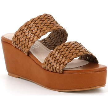 Chaussures Femme Mules Playa Collection Mule compensée KENDRA Camel