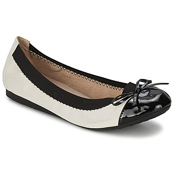 Chaussures Femme Ballerines / babies Moony Mood EDOUMI Blanc / Noir