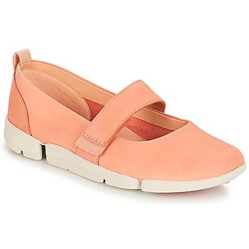 Chaussures Femme Ballerines / babies Clarks Tri Carrie Pink Nubuck