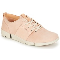 Chaussures Femme Baskets basses Clarks Tri Caitlin Nude Pink