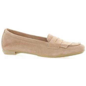 Chaussures Femme Mocassins So Send Mocassins cuir velours Poudré
