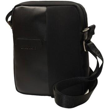 Sacs Homme Pochettes / Sacoches Chabrand Sacoche bandoulière en nylon et cuir ref_cha30870 noir