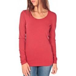 Vêtements Femme T-shirts manches longues Tom Tailor Lara Stretch Longsleeve Rouge Rouge