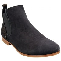 Chaussures Femme Bottines Hirica Bottine Bolivie Noir Bronze Noir