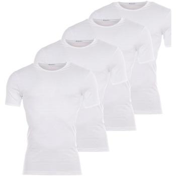 Vêtements Homme T-shirts manches courtes Eminence Lot de 4 Tee-shirts col rond  blancs : 3 achetés +1 offert Blanc