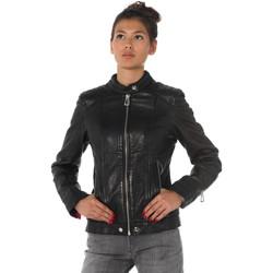 Vêtements Femme Vestes en cuir / synthétiques Rose Garden MOMY COW AIR MILLED BLACK Noir
